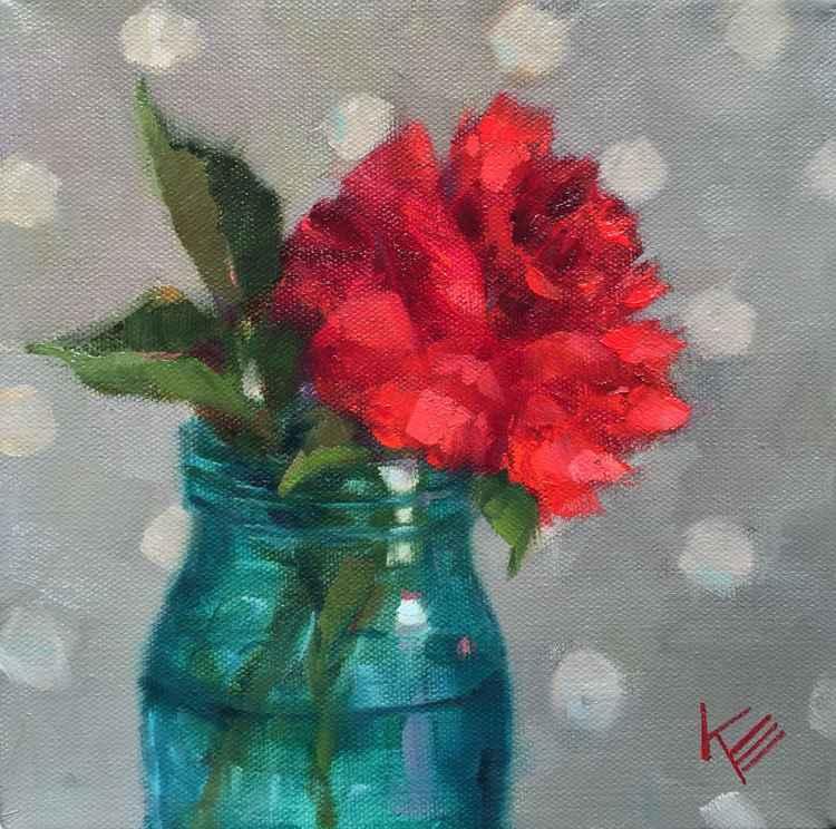 Rose in Mason Jar