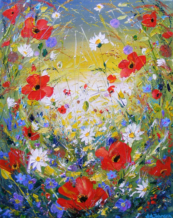 "Poppies, flowers - ""Harmony"" - Image 0"
