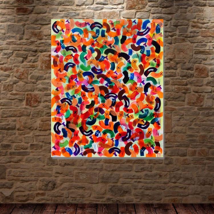 Twist Tab No.8   ( 50 X 40 cm ) Abstract - Image 0