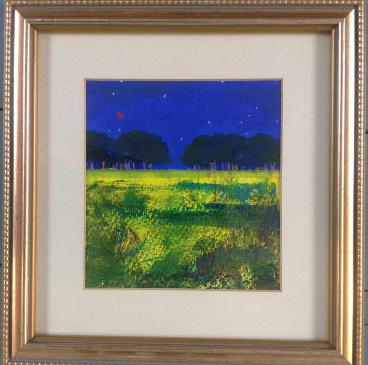 August Blue ( framed original) - Image 0