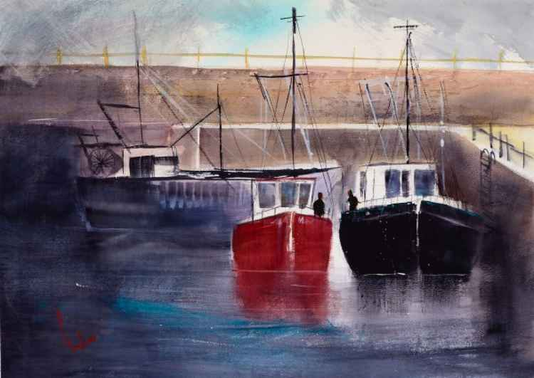 Harbours #5 - Original Watercolour Painting -