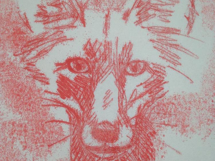 Red Fox Monoprint - Image 0