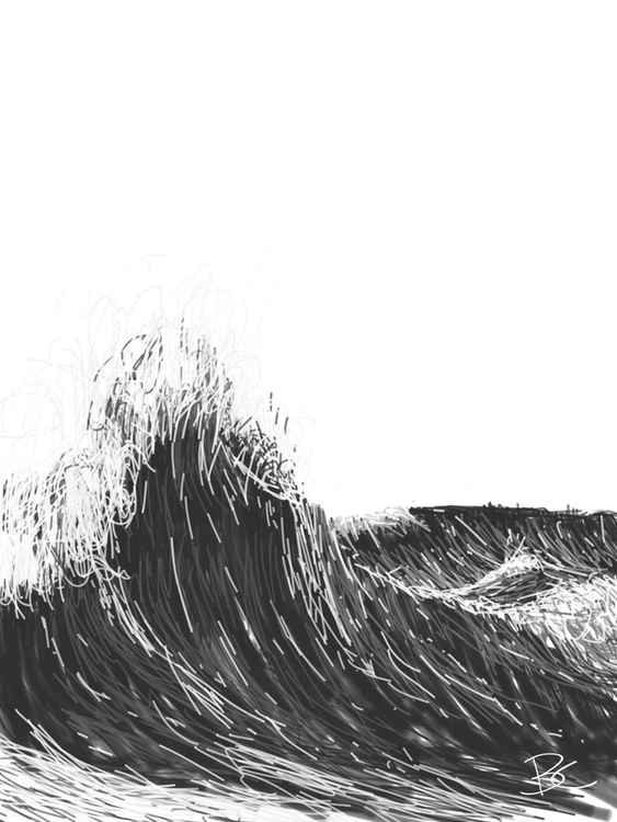 Wave 1 - Drawing - Small