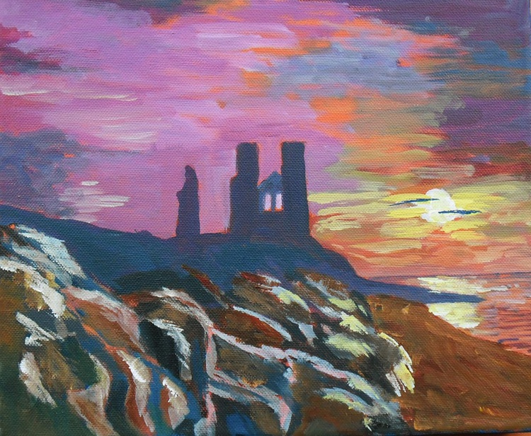 Sunset over Reculver Towers Kent - Image 0