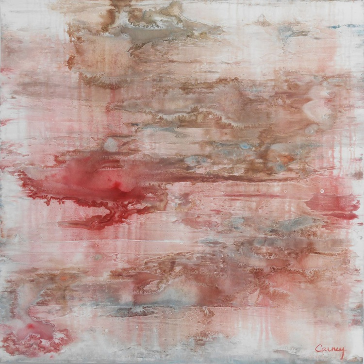 """Red Destiny - 30x30"""" - READY-TO-HANG - Image 0"""
