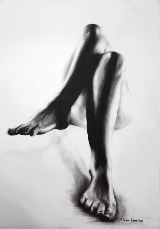 Nude Woman Charcoal Study 26 - Image 0