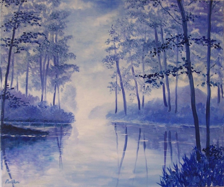 Reflections in blue - Image 0
