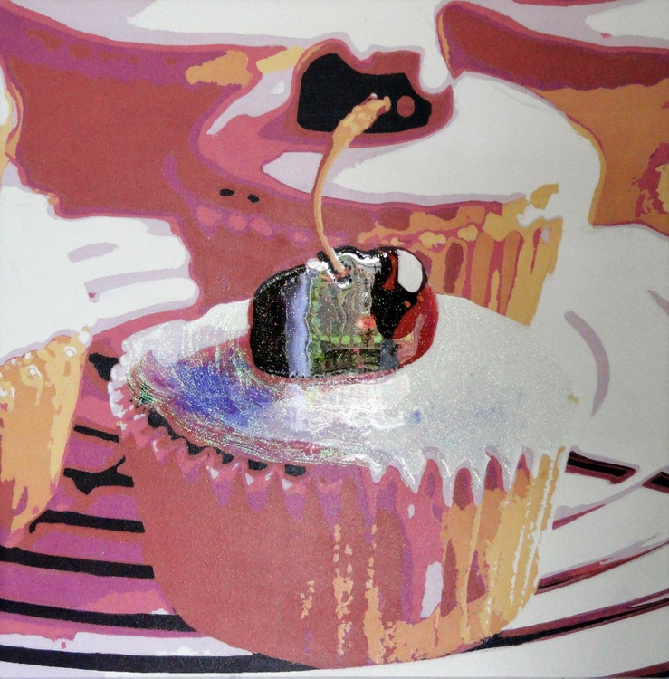 Two Cherry Cup Cake - Image 0