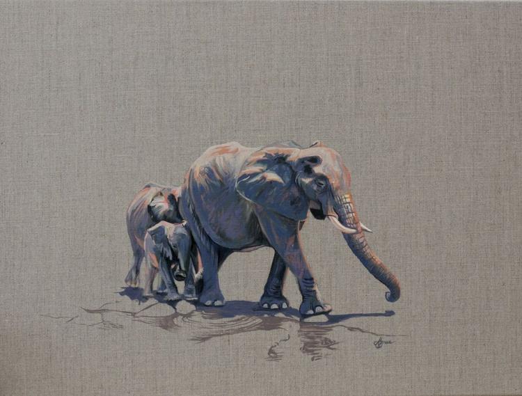 Elephant and Babies - Image 0