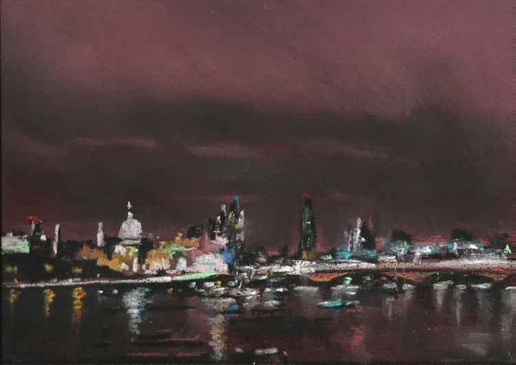 London Night Skyline No.1 -