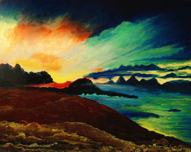 Abstract Scottish Landscapes #1 Isle of Skye 50 x 40 cm - Image 0