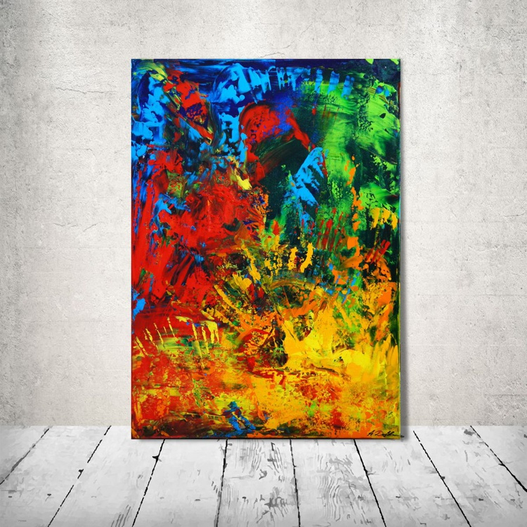 Flight Of The Macaws (50 x 70cm) - Image 0