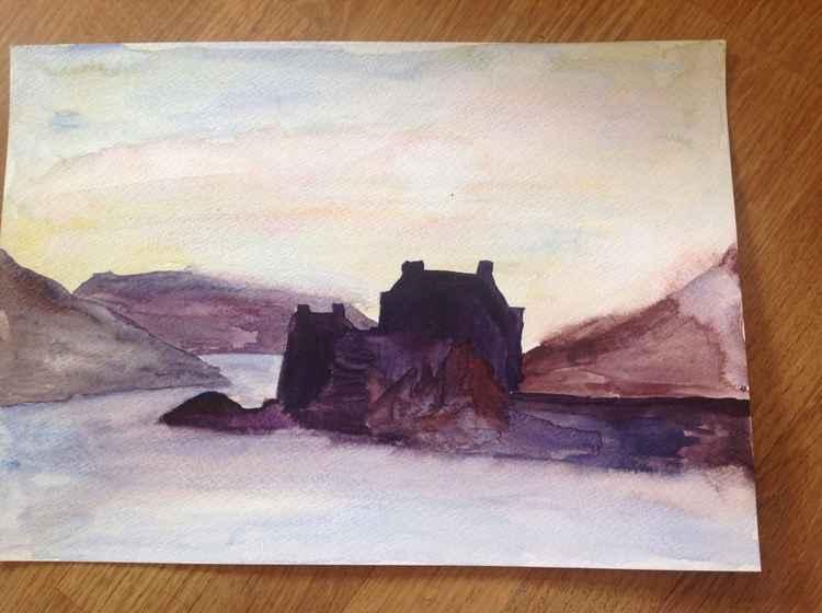 Eileen Donnan castle, sunset, isle of Skye -