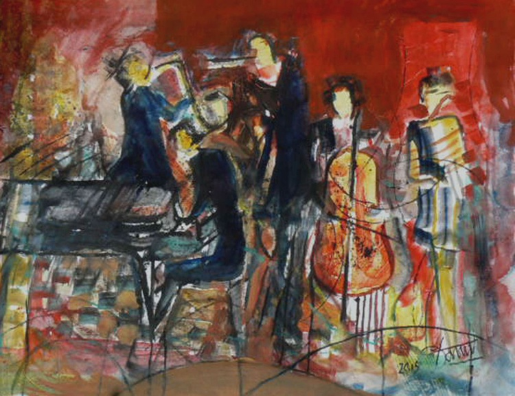 Red jazz band and accordion - Image 0
