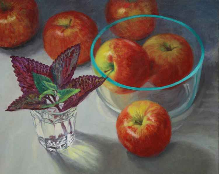 Apples and Glass -