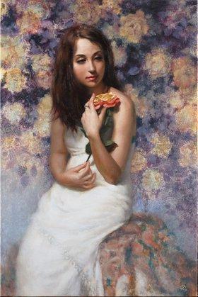 """Blossom 24"""" x 36"""" by H. Momo Zhou"""