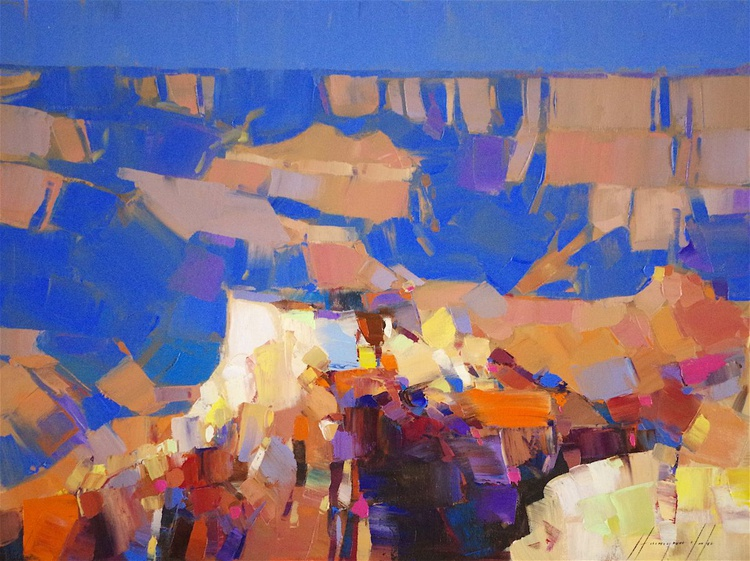 Grand Canyon - Arizona, Landscape oil painting,  One of a kind, Signed, Hand Painted - Image 0