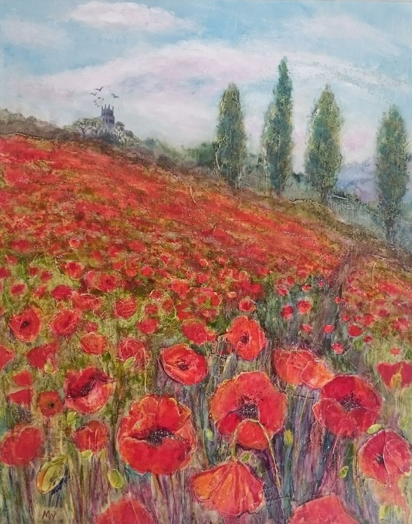 Distant Folly with Poppies - Image 0