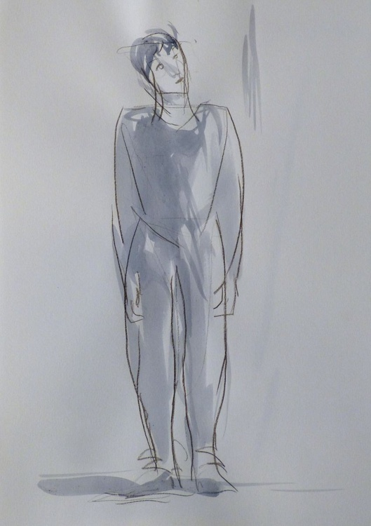 January Sketch #2, 29x42 cm - Image 0