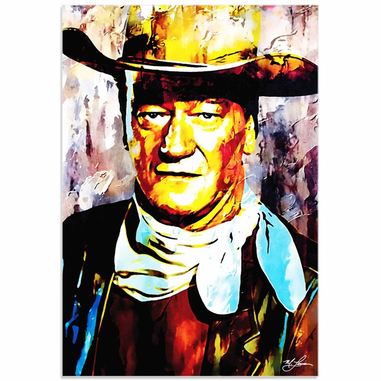 Mark Lewis 'John Wayne Gallant Duke' Limited Edition Pop Art Print on Acrylic - Image 0