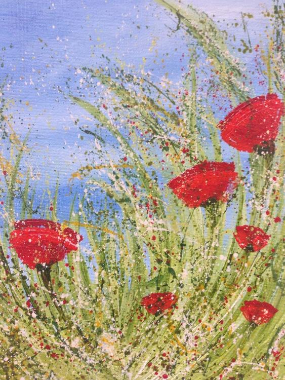 """Wind Swept Poppies #3"" - Image 0"
