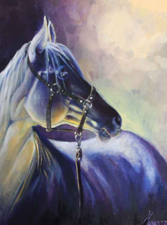 "original oil painting of a horse ""Wild Fire"""