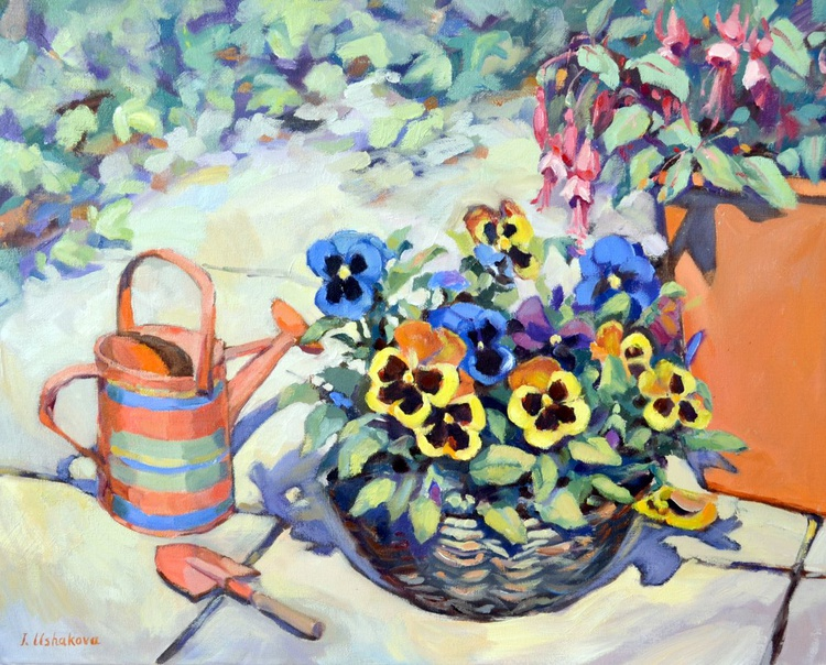 Pansy In A Basket - Image 0