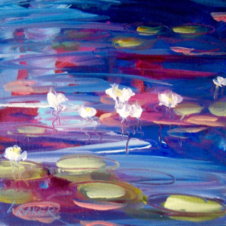 Waterlilies Navy - Image 0
