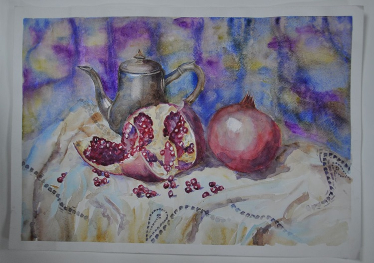 Still life with pomegranates - Image 0