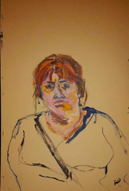 Study of a sad woman