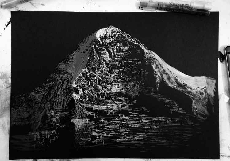 Eiger sketch (mountain north face) -