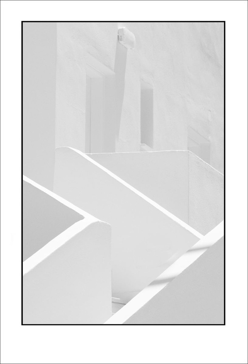 From the Greek Minimalism series: Greek Architectural Detail (White and White) # 4, Santorini, Greece - Image 0