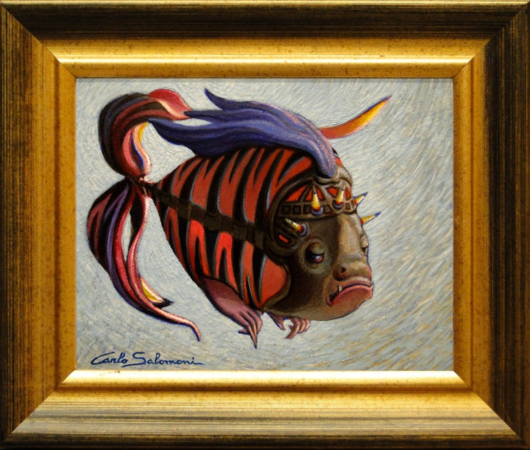 DARK TATTOO FISH -(framed). - Image 0