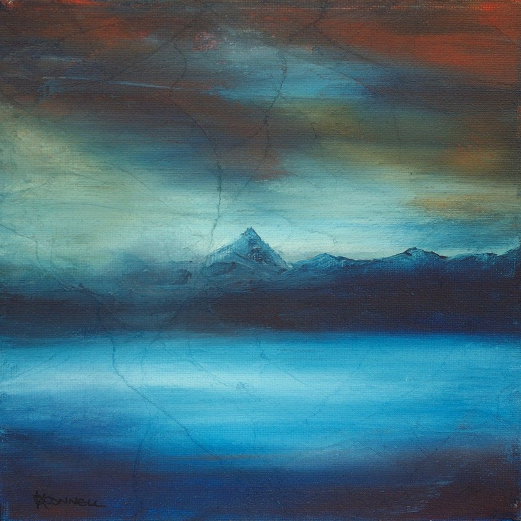 Loch Rannoch Winter, Scottish mountain landscape painting - Image 0