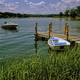 Long Island boats II by Daniel Heller