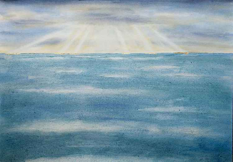Sun Breaking Through Clouds -