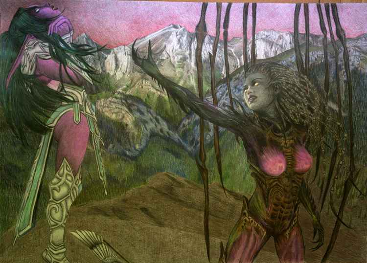 Tyrande and Kerrigan - Heroes Of The Storm Fan Art -