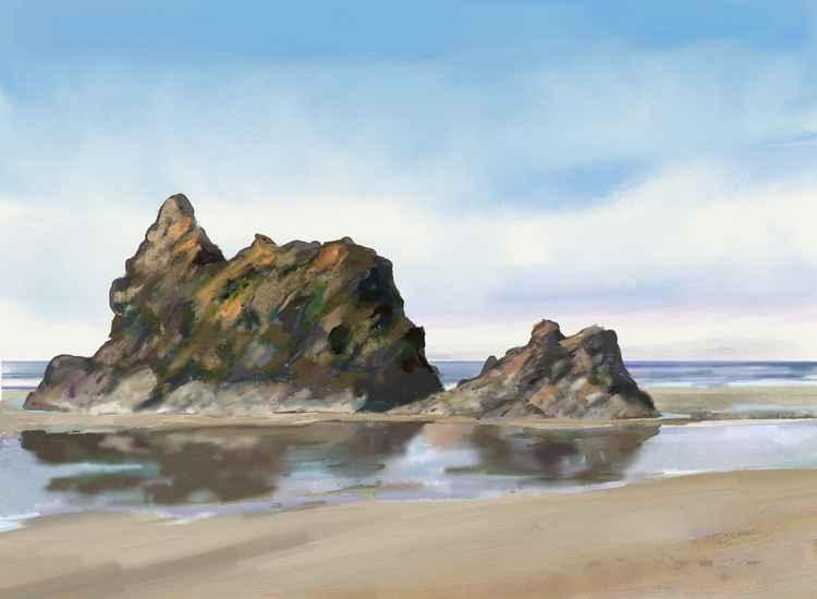Beach Reflections -