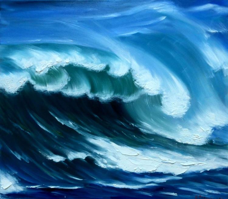 Sea wave, 80x70 cm - Image 0