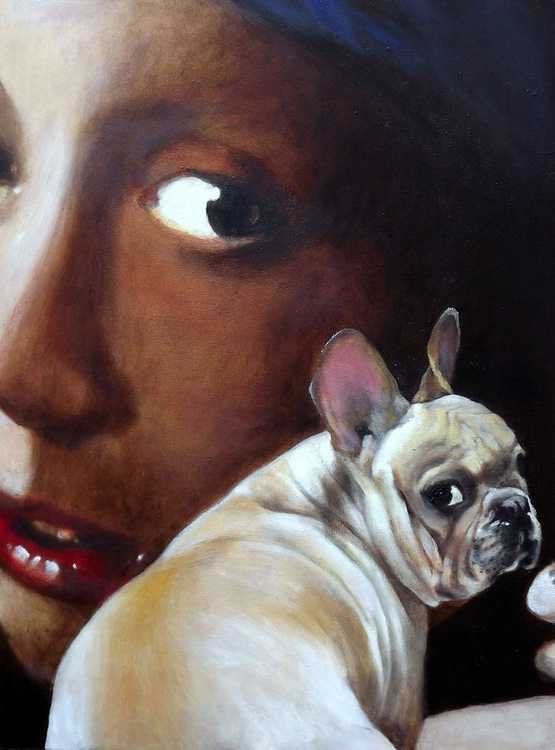 Classical Frenchie 2 ( after Johannes Vermeer ) - Image 0