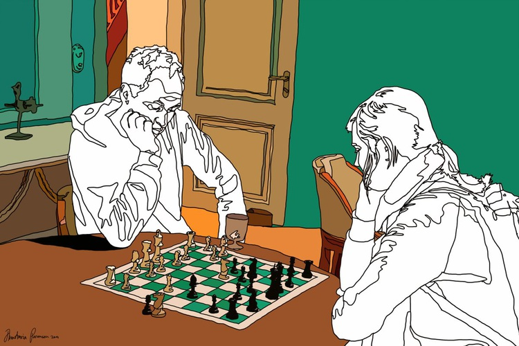 Untitled (Game of Chess) - Image 0