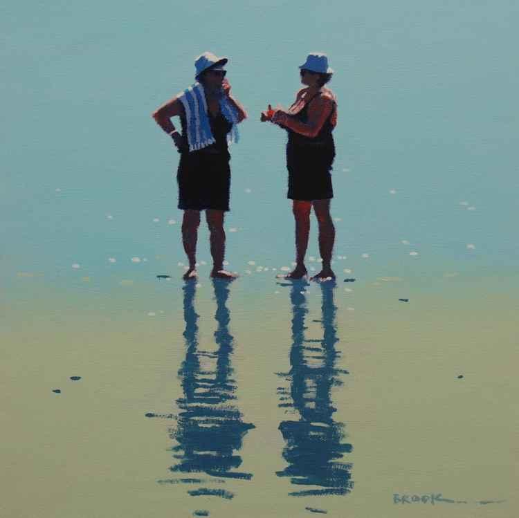 Beach babes. -