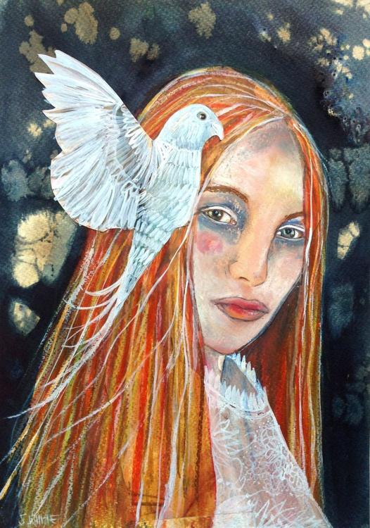 Girl & bird - Image 0