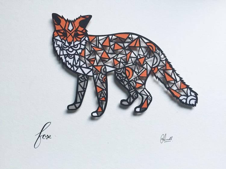 Papercut Geometric Fox - Image 0