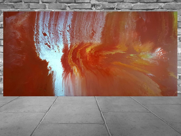 Entering the atmosphere - large abstract painting - Image 0