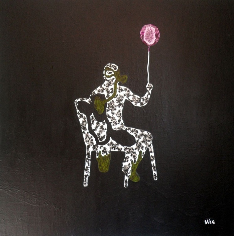 Seated man with balloon ( SOLD - United Kingdom ) - Image 0