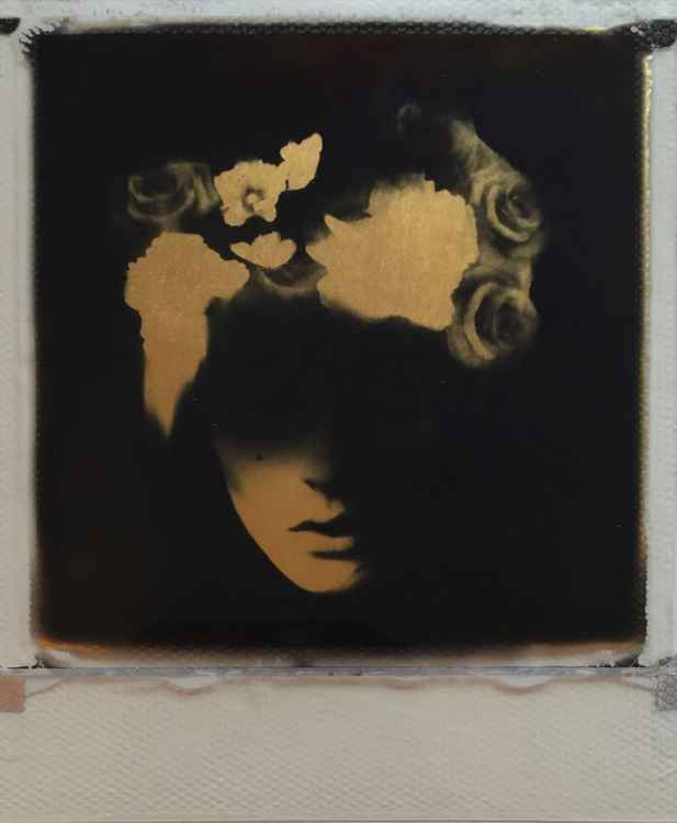 Broken Blossom  24crt Gold leaf collage -