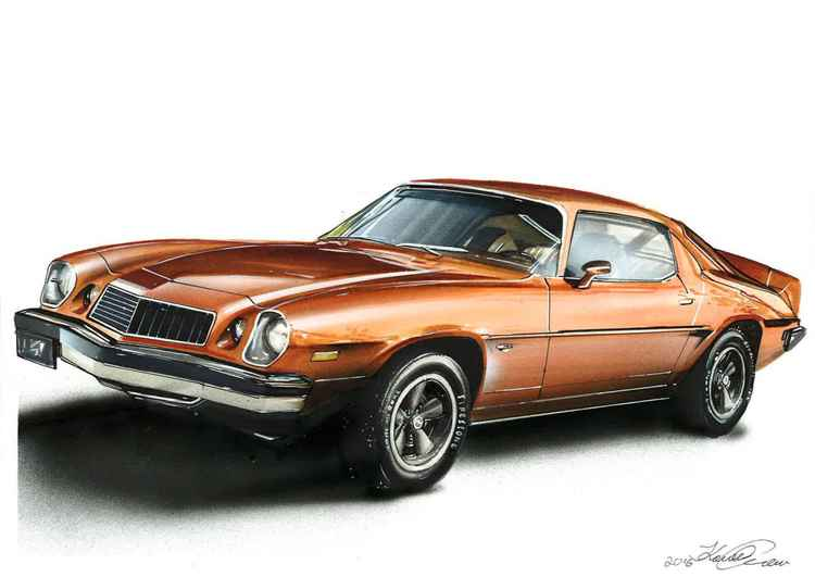 Chevrolete camaro. Illustration -