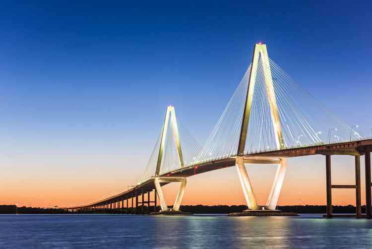 Ravenel Bridge at Twilight -