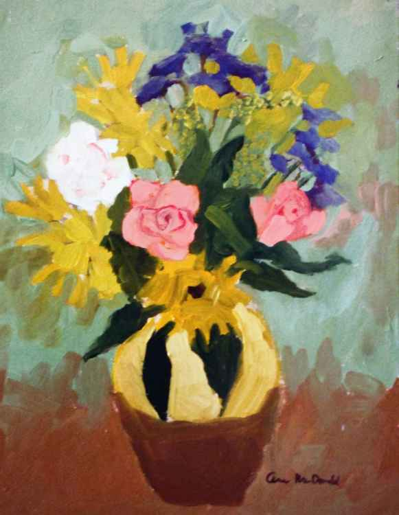 Yellow Brown Vase